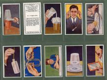Cigarette cards set Puzzle series  1937 set of 50 by R & J.  Hill